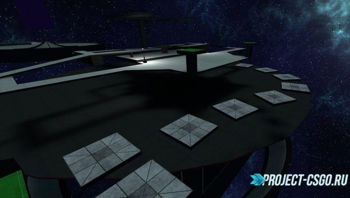 Карта bhop в космосе для CS:GO