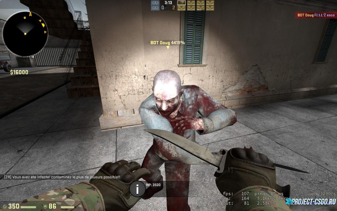 Скачать модель Зомби в CSGO (Zombie)