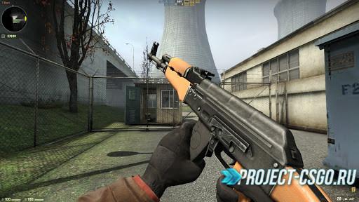 """Модель оружия АК-47 """"Light wood + Clean metal AK-47"""""""