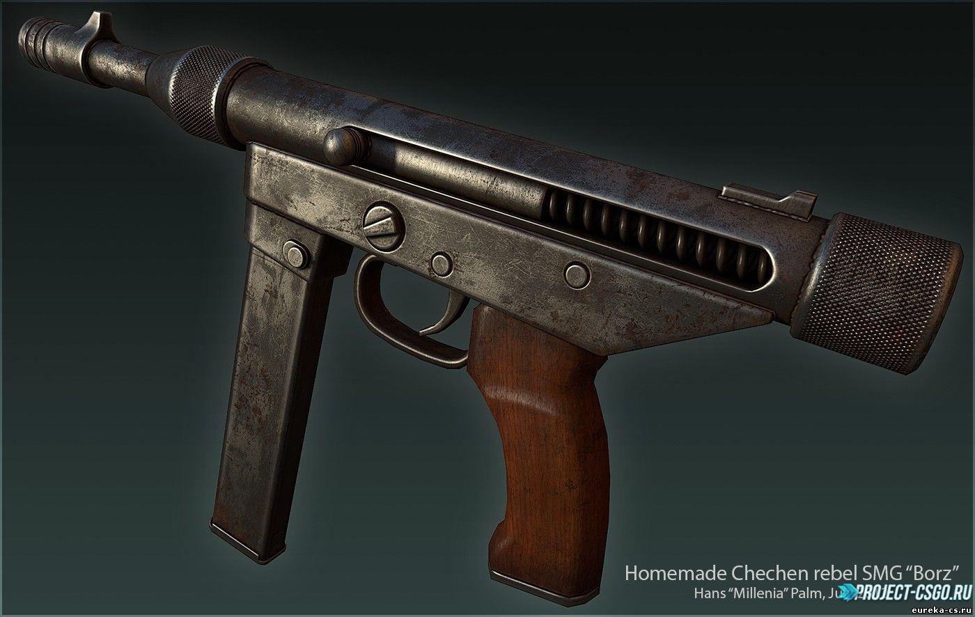 Модель оружия Tec-9 Homemade chechen SMG Borz